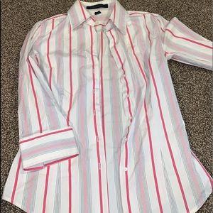 Express quarter sleeve button down shirt